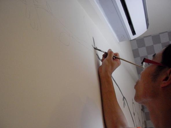 幸福藤 彩繪牆壁 牆壁彩繪 手工壁畫 彩繪施工情形-03.jpg