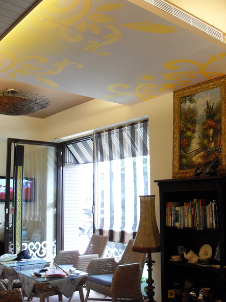 幸福藤牆壁彩繪-天花板彩繪.JPG
