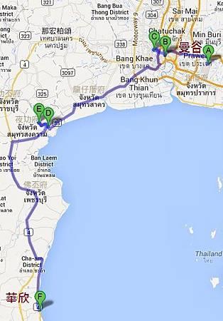 泰國行路線