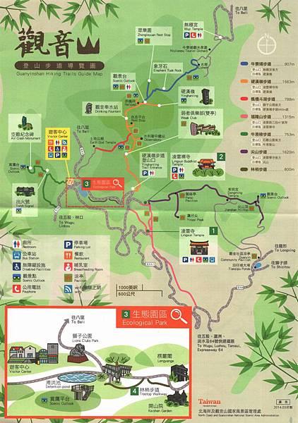 觀音山遊客地圖