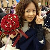 我抽到捧花~lucky!