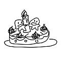 波肥雙胞胎蛋糕