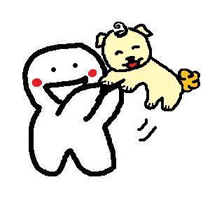 小波肥跟狗狗玩耍