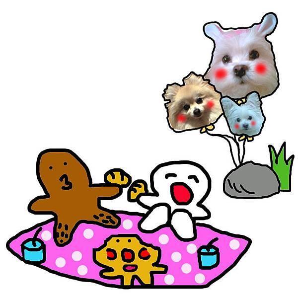 小波肥和小波卡野餐去!!