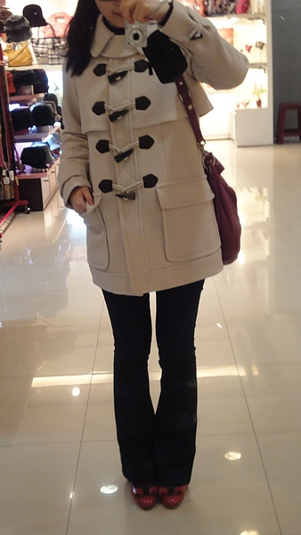 Jill Stuart coat, FB jeans, MBMJ bag