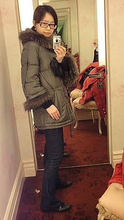 Jill Stuart coat, FB jeans, SF audrey