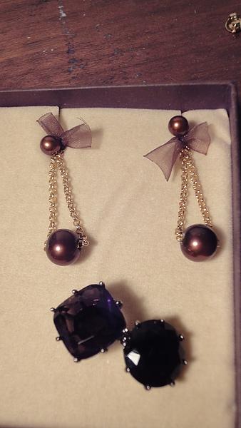 珍珠耳環(1850) 星鑽戒指(1850)