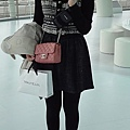 Jill Stuart cardigan and skirt, Les Nereides necklace, chanel bag and shoes
