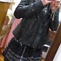 leather biker and skirt all by jill stuart