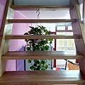 好特別的木樓梯