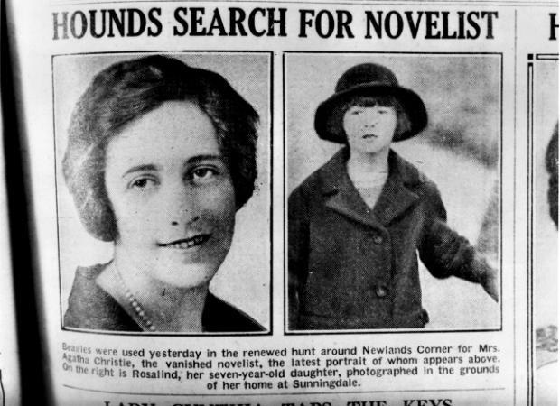 1926年失蹤時在報上刊登的尋人照片