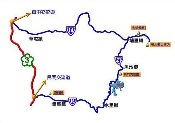 東離員工旅遊---地圖