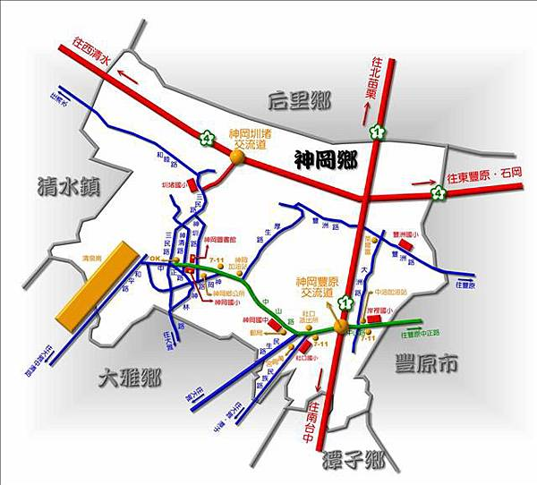 神岡地圖---25000---彩色印刷完成圖--壓縮3