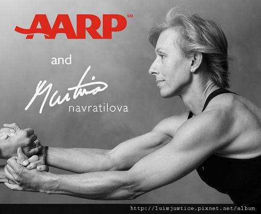 MARTINA-NAVRAT 美國退休人士協會廣告