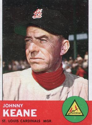 1963Topps Johnny Keane