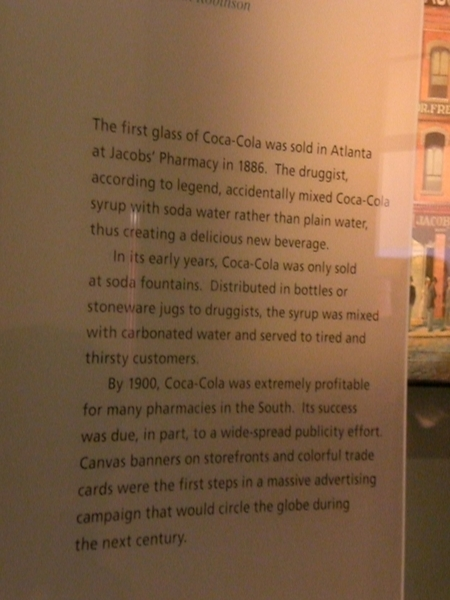 The origin of Coca Cola is from a pharmacist