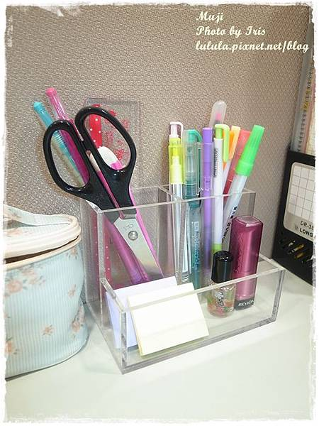 MUJI無印良品-壓克力面紙盒-筆筒-小物收納筒清爽收納 (22)