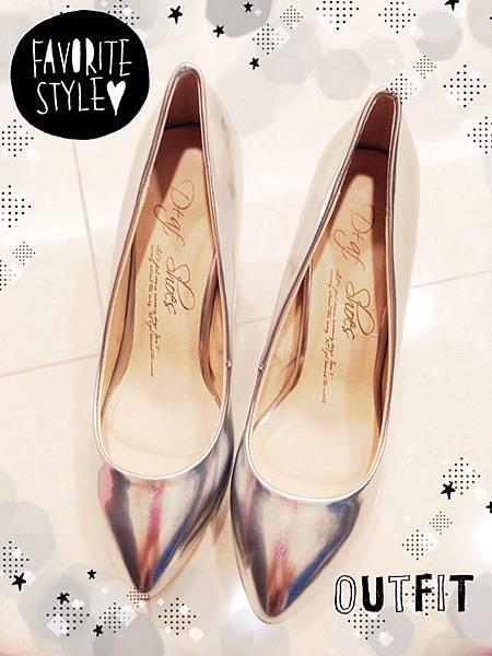 D+af顯瘦金屬美型尖頭高跟鞋-銀色尖頭高跟鞋 (15)