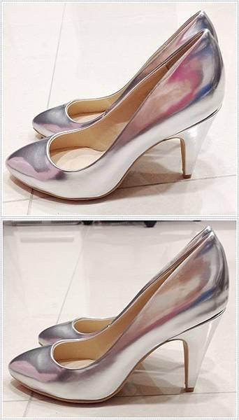 D+af顯瘦金屬美型尖頭高跟鞋-銀色尖頭高跟鞋 (111)-vert
