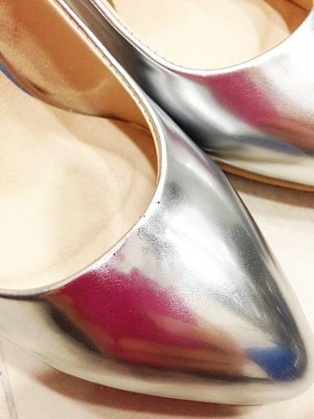 D+af顯瘦金屬美型尖頭高跟鞋-銀色尖頭高跟鞋 (14)