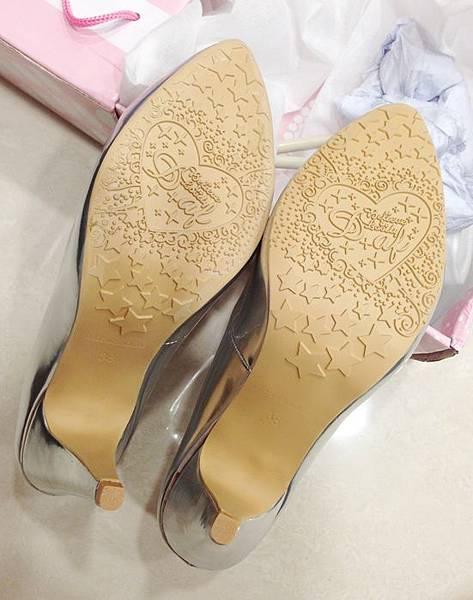 D+af顯瘦金屬美型尖頭高跟鞋-銀色尖頭高跟鞋 (13)