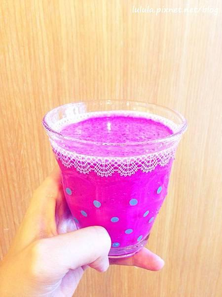 火龍果牛奶-紅龍果牛奶-隨行杯果汁機 (1)