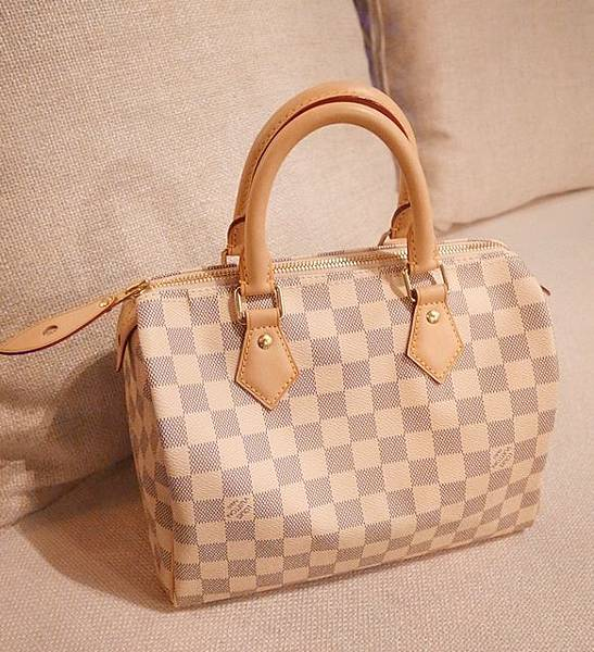 Louis Vuitton-LV-speedy 25-白色棋盤格 N41534-中夾-名片夾-零錢包-monogram-my wedding gift (10)