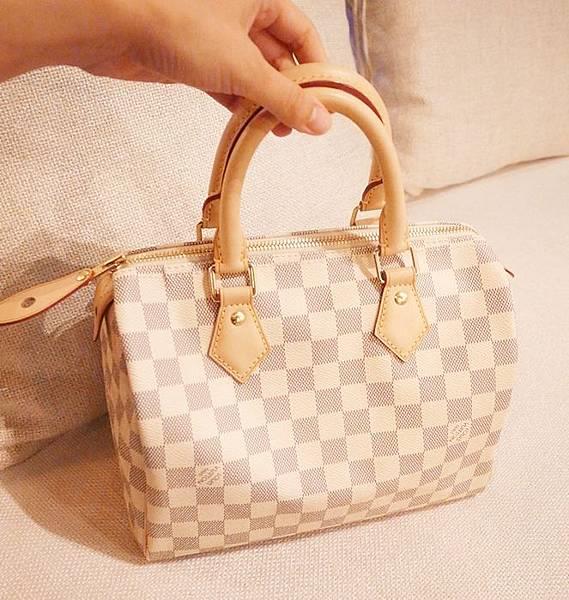 Louis Vuitton-LV-speedy 25-白色棋盤格 N41534-中夾-名片夾-零錢包-monogram-my wedding gift (9)