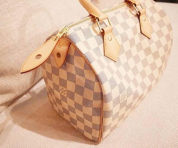 Louis Vuitton-LV-speedy 25-白色棋盤格 N41534-中夾-名片夾-零錢包-monogram-my wedding gift (11)
