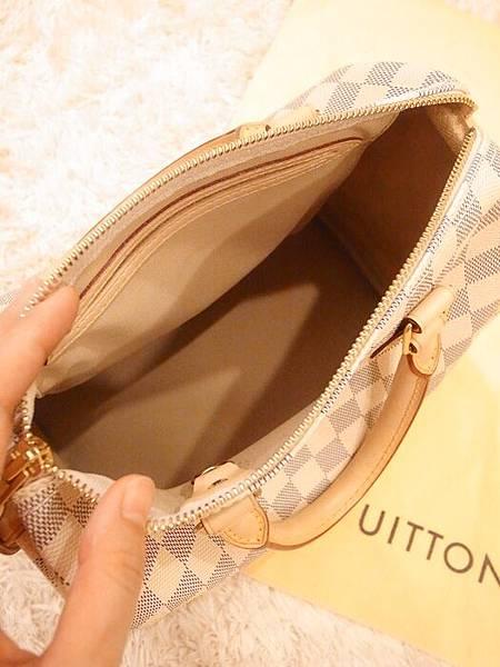 Louis Vuitton-LV-speedy 25-白色棋盤格 N41534-中夾-名片夾-零錢包-monogram-my wedding gift (15)