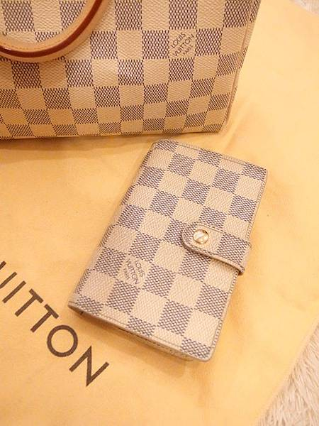 Louis Vuitton-LV-speedy 25-白色棋盤格 N41534-中夾-名片夾-零錢包-monogram-my wedding gift (21)