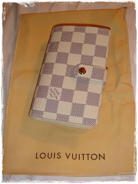 Louis Vuitton-LV-speedy 25-白色棋盤格 N41534-中夾-名片夾-零錢包-monogram-my wedding gift (4)