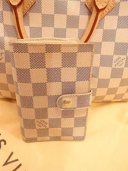 Louis Vuitton-LV-speedy 25-白色棋盤格 N41534-中夾-名片夾-零錢包-monogram-my wedding gift (22)