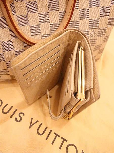 Louis Vuitton-LV-speedy 25-白色棋盤格 N41534-中夾-名片夾-零錢包-monogram-my wedding gift (27)