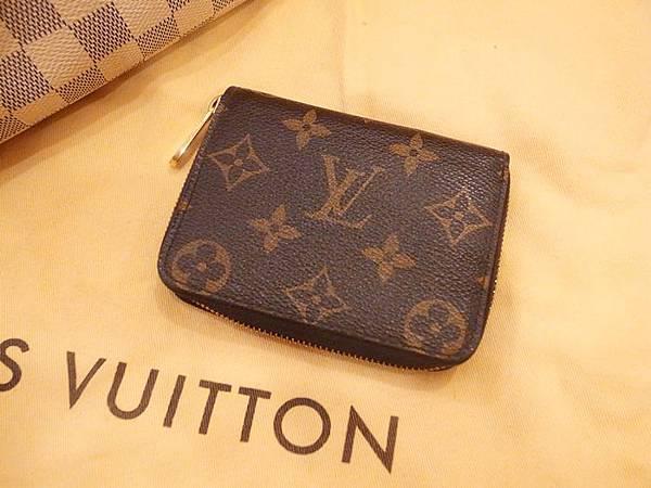 Louis Vuitton-LV-speedy 25-白色棋盤格 N41534-中夾-名片夾-零錢包-monogram-my wedding gift (32)