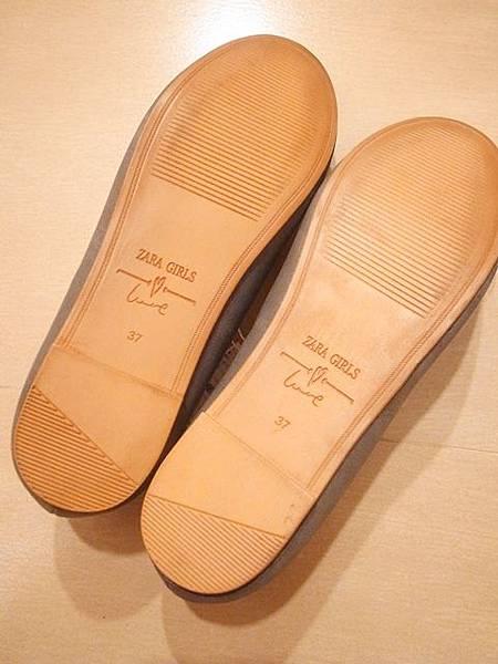 ZARA girl 灰色毛呢圓點點蝴蝶結娃娃鞋 (11)