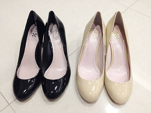 Vince Camuto-amazon購入-OL超百搭-黑色裸色漆皮高跟鞋 (45)