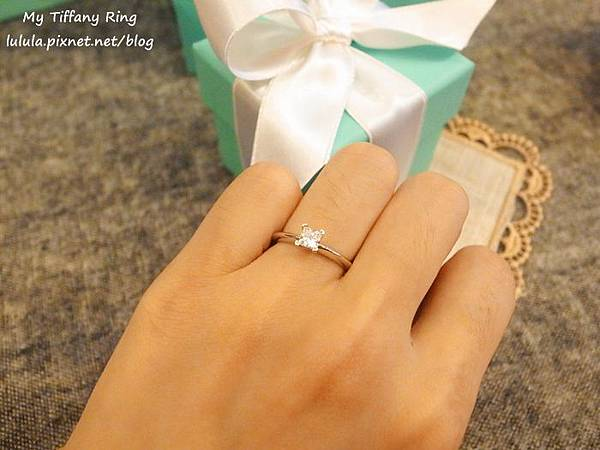 囍-Wedding-求婚戒-engagement Ring-夢幻Tiffany蒂芬妮鑽戒-公主方鑽Princess cut Diamond-blue box小藍盒 (1)