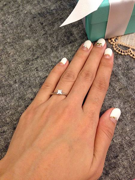 囍-Wedding-求婚戒-engagement Ring-夢幻Tiffany蒂芬妮鑽戒-公主方鑽Princess cut Diamond-blue box小藍盒 (34)