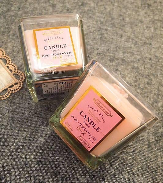 大創好物Daiso Japan 小資女孩的婚禮佈置-夢幻蕾絲水鑽粉紅婚禮蠟燭DIY (2)