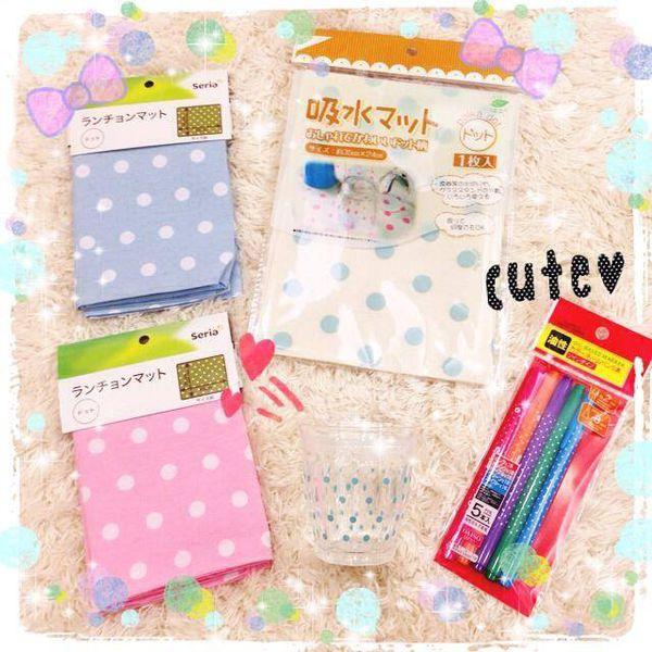 日本鄉村風雜貨-Seria百元店-台灣icolor-板橋新埔三猿廣場-點點控的點點餐具-粉紅粉藍點點竹筷-粉紅點點隔熱手套 (3)