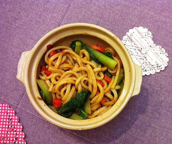 辣豆瓣醬拌讚岐烏龍麵 (3)
