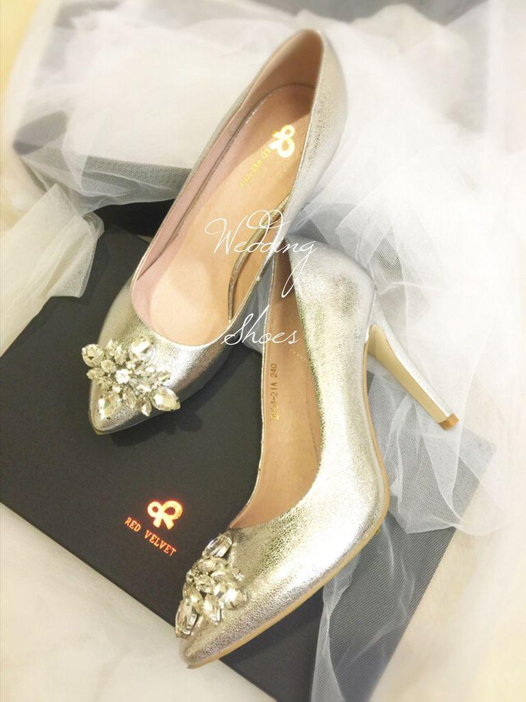 我的超夢幻命定婚鞋wedding shoes-Red Velvet-銀色水鑽高跟鞋 (26)