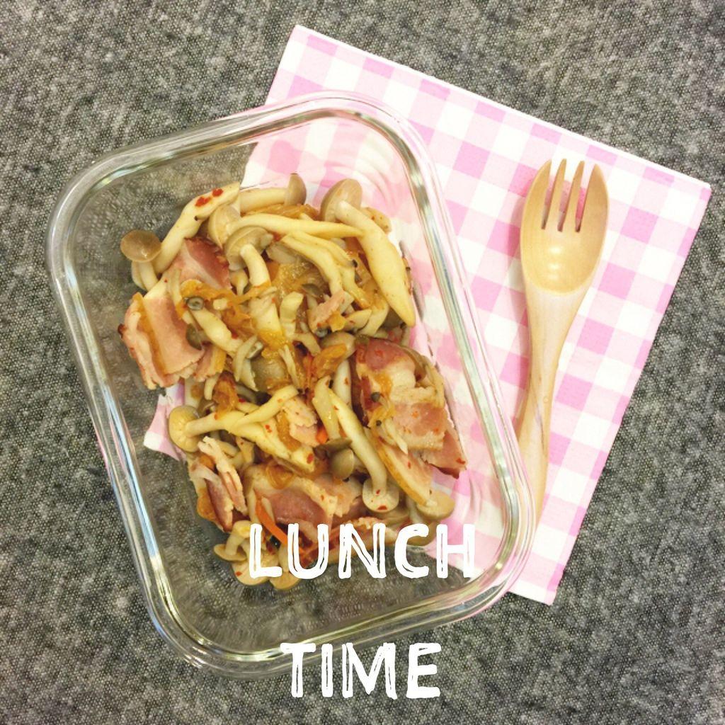 單身小廚房-減肥食譜減肥便當自己煮DIY-泡菜培根鴻喜菇 (1)