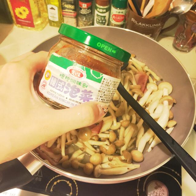 單身小廚房-減肥食譜減肥便當自己煮DIY-泡菜培根鴻喜菇 (5)