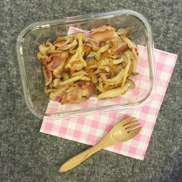 單身小廚房-減肥食譜減肥便當自己煮DIY-泡菜培根鴻喜菇 (7)
