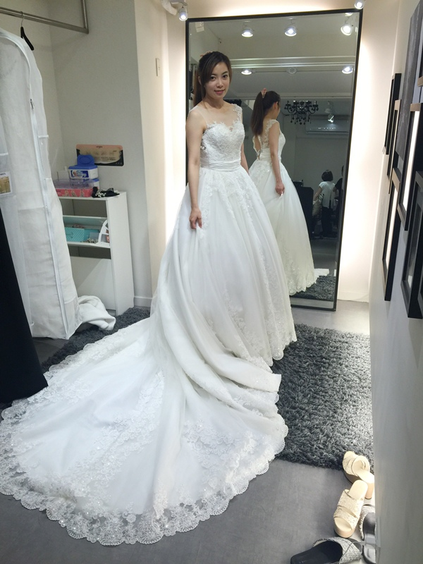 WHITE 手工婚紗試穿-白紗禮服 (74)