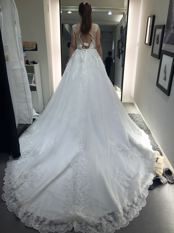 WHITE 手工婚紗試穿-白紗禮服 (73)