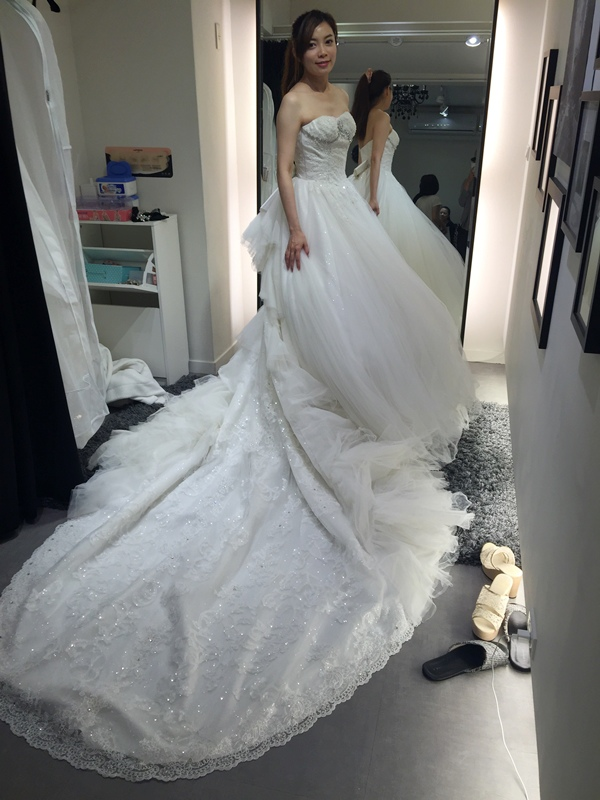 WHITE 手工婚紗試穿-白紗禮服 (78)