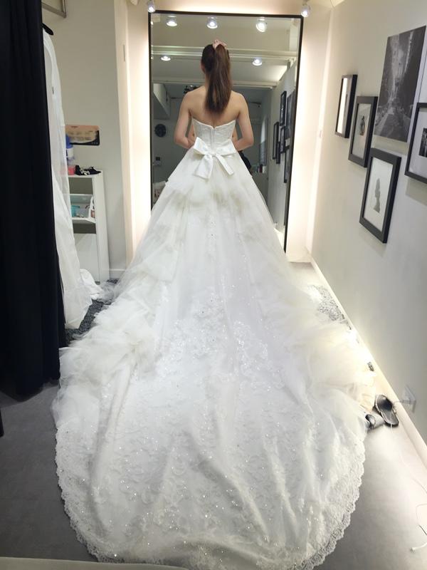 WHITE 手工婚紗試穿-白紗禮服 (77)